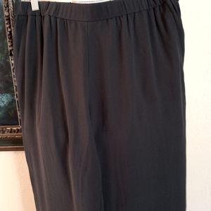 EILEEN FISHER pants gray 100% silk size Medium